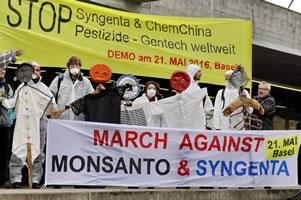 Protest gegen Syngenta 2016 in der Schweiz
