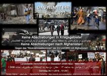 Das nennt Ihr sicher? Keine Abschiebungen in Kriegsgebiete! Keine Abschiebungen nach Afghanistan! Demonstration am 26. November in Düsseldorf