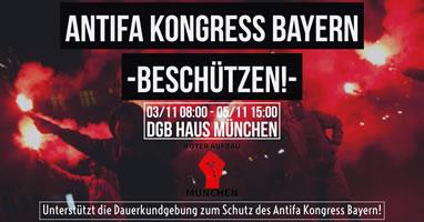 Antifaschistische Dauerkundgebung vor dem DGB-Haus gegen Nazi-Provokationen während des Antifakongresses 3. - 5. November 2017 - zum Schutz unterstützen!