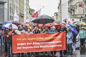 Für ein solidarisches Miteinander - gegen das geplante Ausgrenzungsgesetz der Bayerischen Staatsregierung!