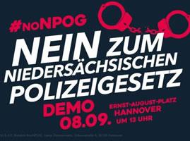 Demonstration gegen das neue Polizeigesetz für Niedersachsen am 8.9.2018 in Hannover