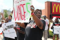 Aktionstag der Fast Food Workers in den USA