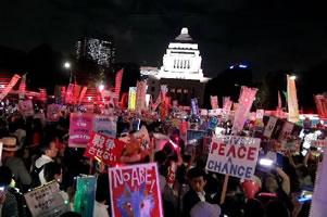 Trotz Massenbewegung gegen Kriegspolitik - der Kurs der japanischen Regierung wird fortgesetzt. Der Widerstand auch - inklusive politische Streiks