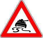 Vorsicht: Schleudergefahr für Panzer