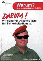 """Agenda 2010: """"Wir schaffen Arbeitsplätze für Sicherheitsdienste"""""""