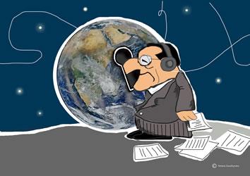 Arbeitnehmerdatenschutz. Illustration von Tetiana Sarazhynska für das LabourNet Germany - wir danken!
