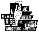 Protestmarsch von Flüchtlingen nach BerlinProtestmarsch von Flüchtlingen nach Berlin