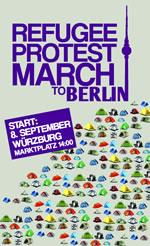 Flüchtlingsprotestmarsch von Würzburg nach Berlin