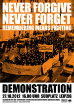 Leipzig: Never forgive - Never forget
