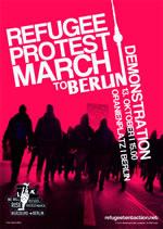 Protestmarsch von Flüchtlingen: Demonstration in Berlin am 13.Oktober