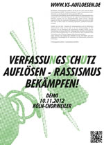"""Demonstration """"Verfassungsschutz auflösen! - Rassismus bekämpfen"""""""