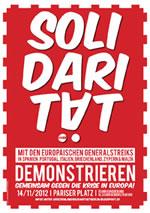 Berlin: Auf zum Europäischen Aktionstag! Gemeinsam gegen die Krise kämpfen! Auf zum Europäischen Aktionstag am 14. November!
