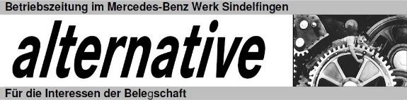 alternative - Betriebszeitung im Mercedes-Benz Werk Sindelfingen