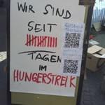 Solidarität mit den hungerstreikenden Flüchtlingen in Würzburg