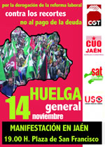 SAT: Gemeinsamer Aufruf der regionalen Basisgewerkschaften in Spanien zum 14.11.