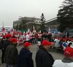 Solidarität mit den Streikenden bei Neupack