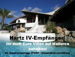 Graphik von Werner Lutz: Hartz IV-Empfänger: Ihr dürft Eure Villen auf Mallorca behalten!