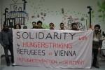 Unterstützung und Solidarität mit den Geflüchteten im Hungerstreik in Wien, Österreich