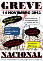 """""""Sindicato da UGT marca greve para 14 de novembro"""""""