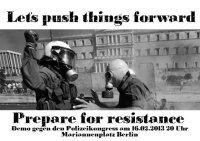 Demonstration gegen den Europäischen Polizeikongress