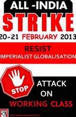Generalstreik in Indien am 20. und 21. Februar 2013