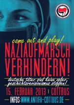 15. Februar 2013 - Naziaufmarsch in Cottbus  verhindern!