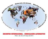 das internationale Gewerkschaftstreffen am 22. – 24. März 2013 in Paris