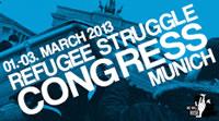 Kongress der protestierenden Flüchtlinge in Europa vom 1. -3. März 2013 in München