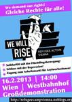 refugee-Solidaritätsdemo am 16.2.2013 ab 14 Uhr am Westbahnhof Wien