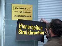 Hier arbeiten Streikbrecher