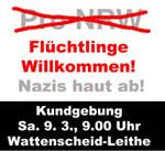 Flüchtlinge Willkommen! Nazis haut ab!