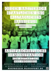 Antifa-Demo zum NSU-Prozess am Samstag, 13.4.2013