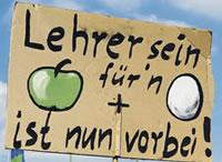 Angestellte Lehrer in Berlin fordern unbefristete Verträge