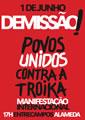 """Europaweiter Protesttag am 1.6.13: """"Povos unidos contra a Troika"""""""