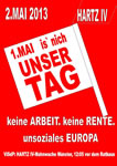 2. MAI - der Tag der Erwerbslosen in Münster und dem Rest der Welt