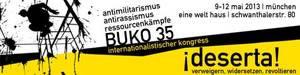 BUKO 35 #Antimilitarismus #Antirassismus #Ressourcenkämpfe. Internationalistischer Kongress, 9.-12. Mai 2013 in München