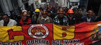 Gewerkschaftsföderation COB - Generalstreik wegen Renten in Bolivien