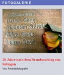 Fotogalerie: 20 Jahre nach dem Brandanschlag von Solingen. Stufen in den Keller deutscher Geschichte
