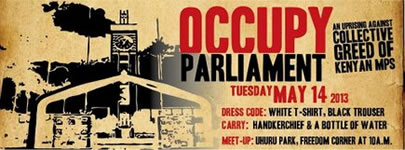 Kenia: Occupy Parliament 2013