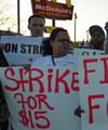 USA: Streik für einen Mindestlohn von 15 Dollar die Stunde