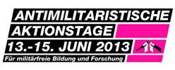 Antimilitaristische Aktionstage vom 13. – 15. Juni 2013