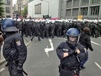 Polizeikessel bei der blockupy-Demo