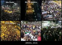Soziale Proteste in allen wichtigen Städten Brasiliens 2013