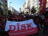 Disk beim Generalstreik in der Türkei am 17.6.2013