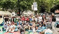 """Asylsuchende am Münchner Rindermarkt treten in den """"trockenen"""" Hungerstreik"""