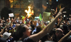 Siegesfeiern in Brasilien -  und Aufmarsch der Rechten...