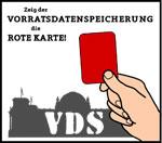 Zeig der Vorratsdatenspeicherung die Rote Karte