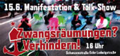 Manifestation und Talkshow: Zwangsräumungen verhindern! am 15. Juni 2013 – 16:00 im Schanzenviertel