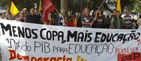 nationaler Protesttag am 11. Juli 2013 in Brasilien