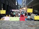 hungerstreikende Asylsuchende in Stuttgart